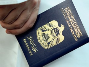 An Emirati shows his passport in Dubai, May 27, 2009. Photo by Patrick Castillo